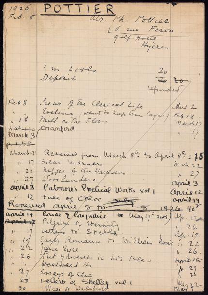 Ph. Pottier 1926 card