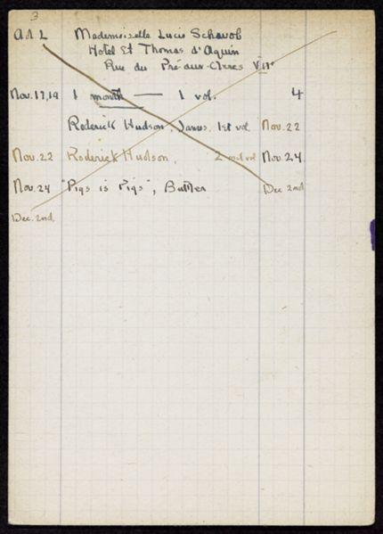 Claude Cahun 1919 card