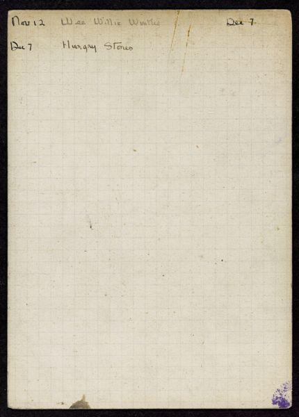 Isabelle Zimmer 1920 card
