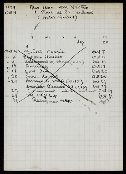 Ann van Vechten 1924 card
