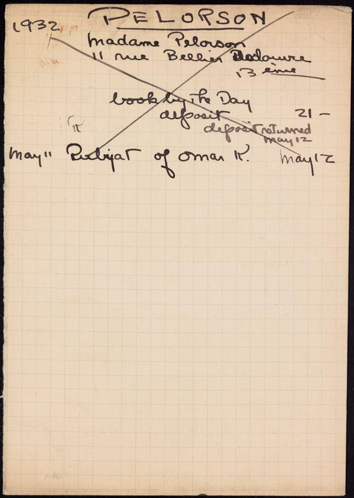 Andrée Pelorson 1932 card (large view)