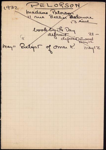 Andrée Pelorson 1932 card
