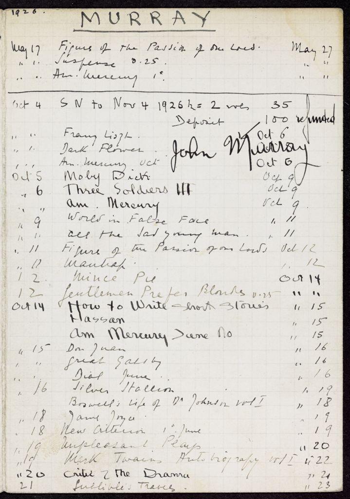 John Murray 1926 card (large view)
