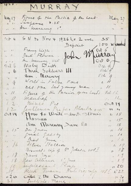 John Murray 1926 card
