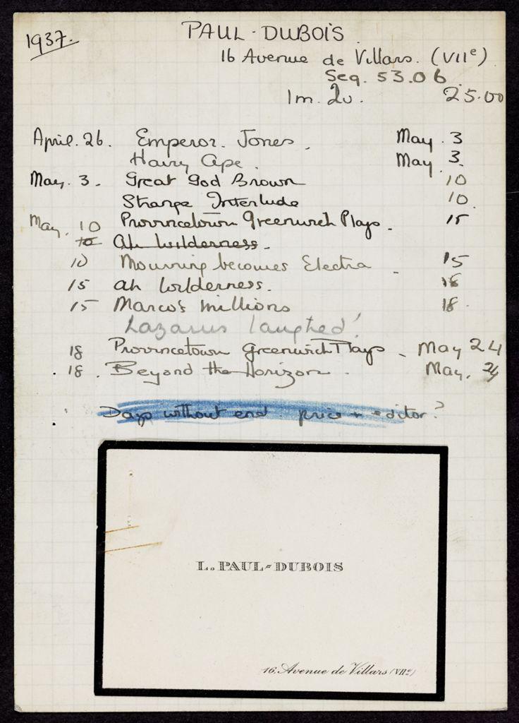 Louis Paul-Dubois 1937 card (large view)