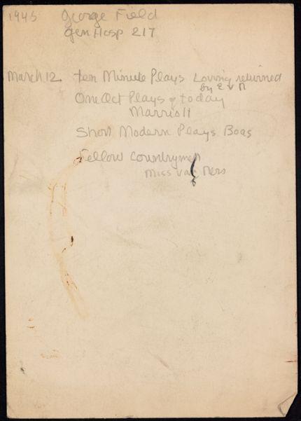 George Field 1945 card