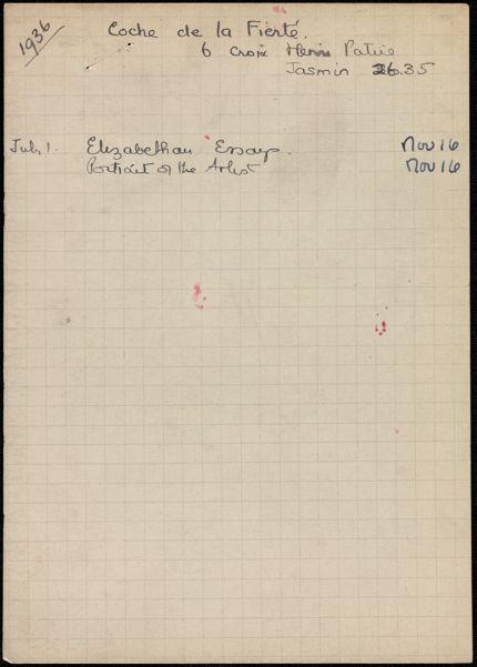 Étienne Coche de la Ferté 1936 card