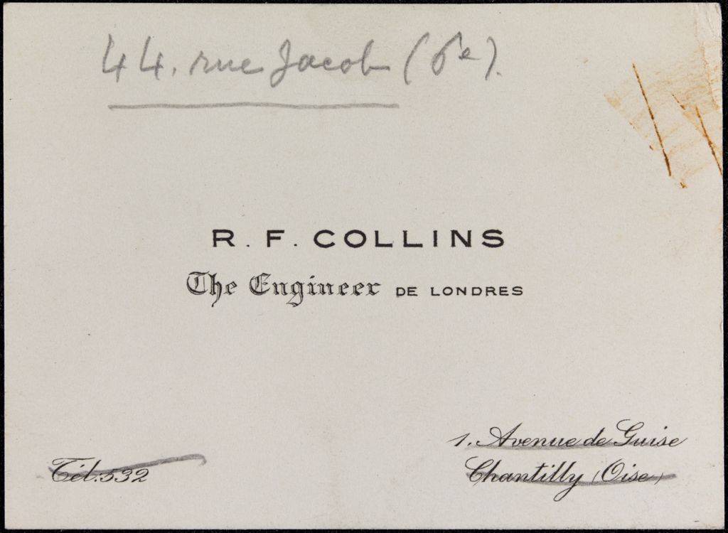 R. F. Collins Blank card (large view)