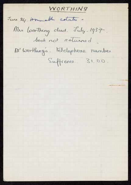 Worthing 1937 card
