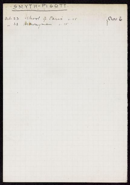 Clare Smyth-Pigott 1928 card