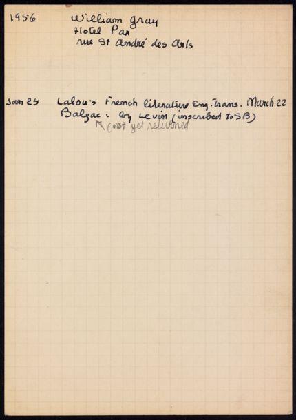 William Gray 1956 card