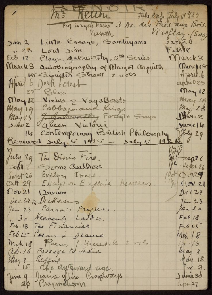 Edmond Renoir 1925 – 1926 card (large view)