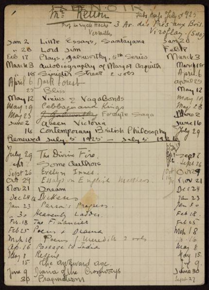 Edmond Renoir 1925 – 1926 card