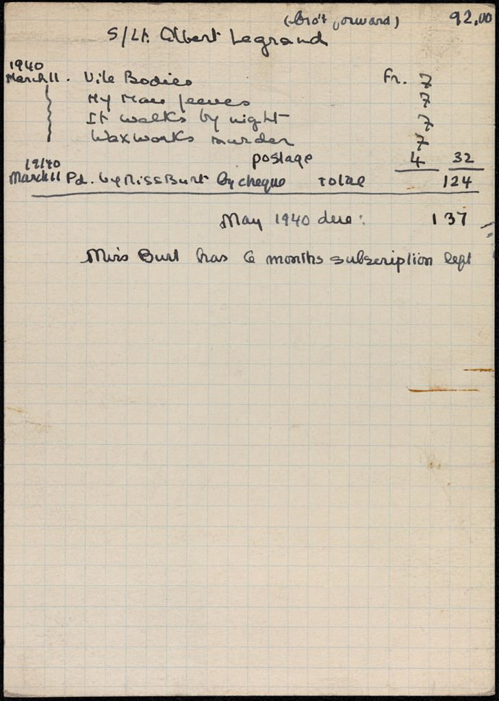 Maud Burt 1940 card (large view)