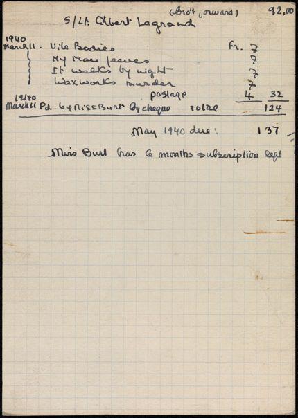 Maud Burt 1940 card