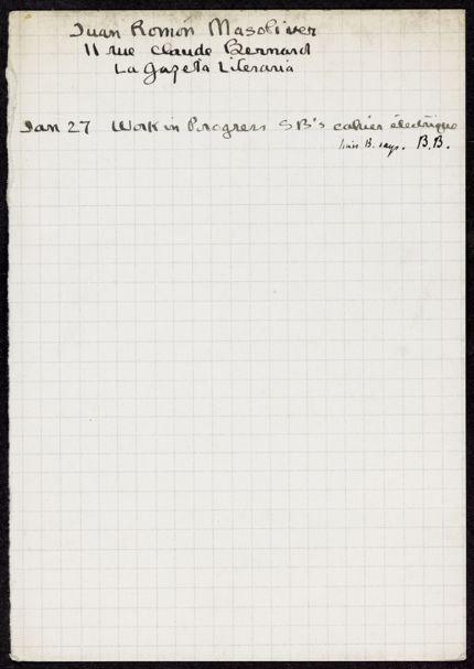 Juan Ramón Masoliver Unknown card