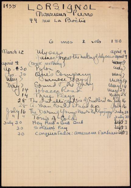 Pierre Lorsignol 1938 card