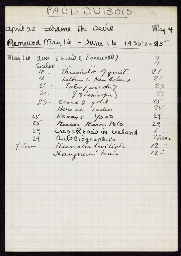 Louis Paul-Dubois 1935 card (large view)