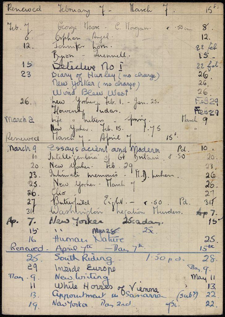 Agnes Claudius 1936 card (large view)