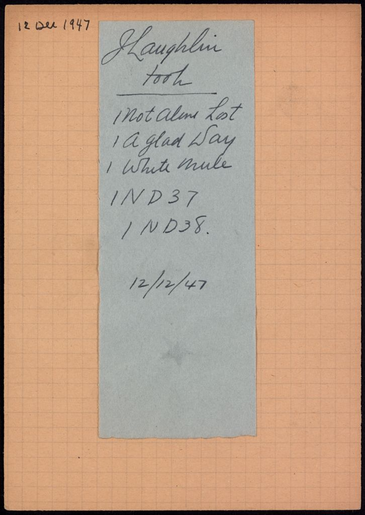 James Laughlin 1947 card (large view)