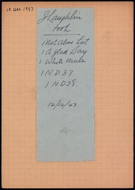 James Laughlin 1947 card