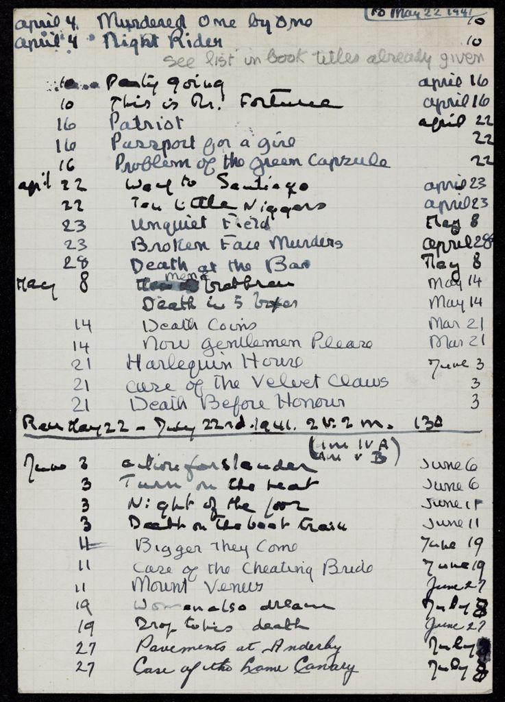 Mrs. Emory Whitridge 1941 card (large view)