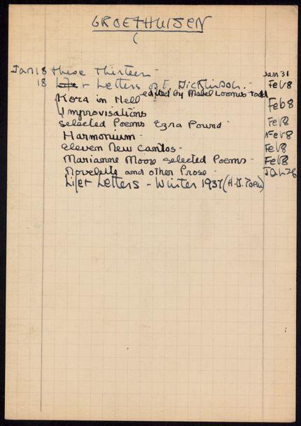 Groethuisen 1938 card