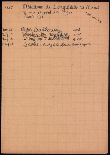 Mme de Longueau Saint-Michel 1957 card