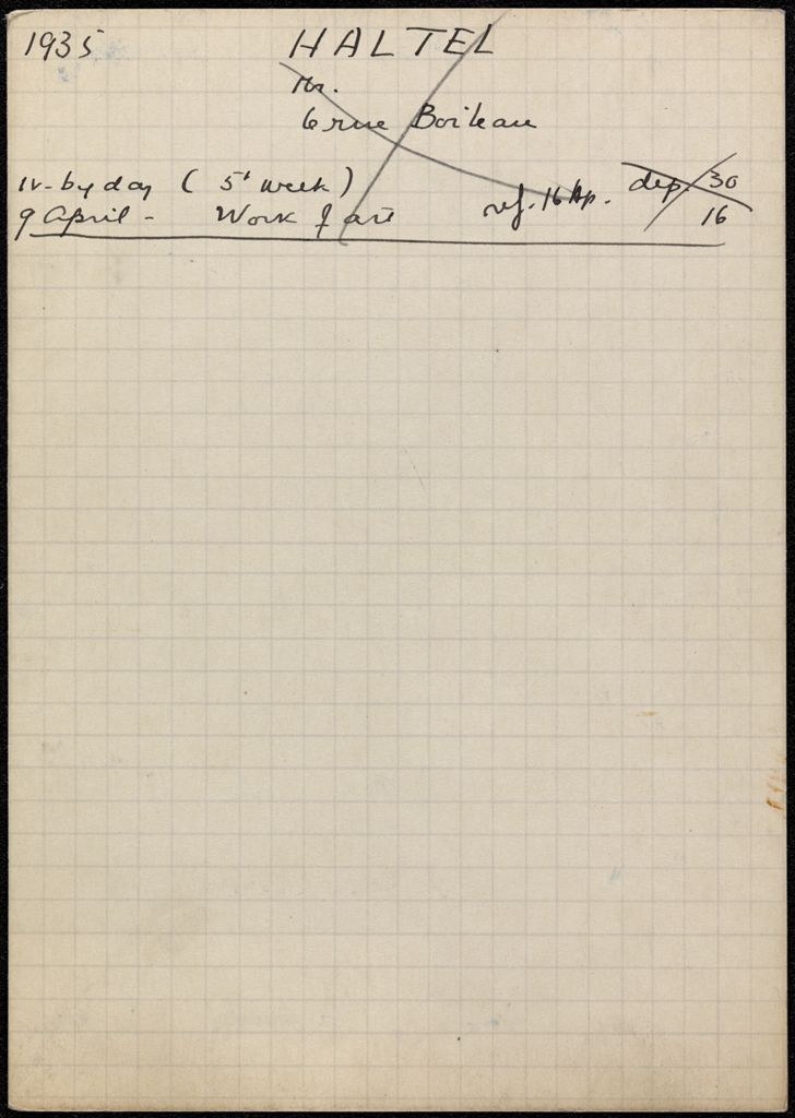 Mr. Haltel 1935 card (large view)