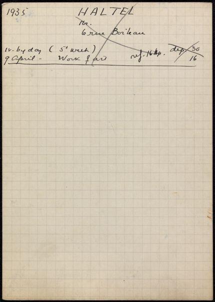 Mr. Haltel 1935 card