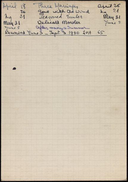 Mme S. Chopard 1940 card