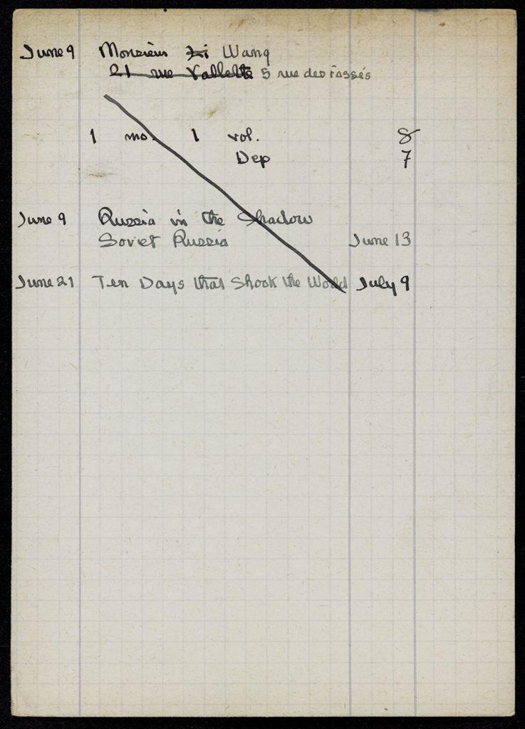 M. Wang 1921 card (large view)