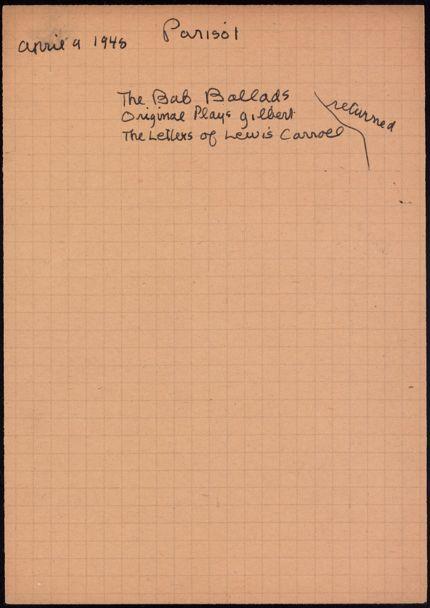 Parisot 1948 card