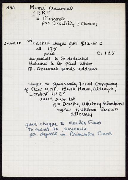 René Daumal Blank card