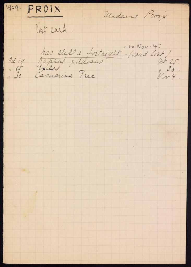 Troise Proix 1929 card (large view)
