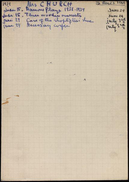 Barbara Church 1939 card
