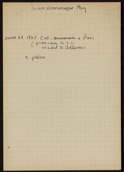 Jean-Dominique Rey 1962 card