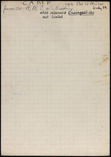 Ruth Camp 1941 card