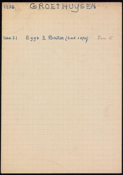 Groethuisen 1936 – 1937 card