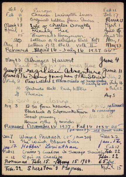 Darsie Rutherford Gillie 1937 – 1938 card