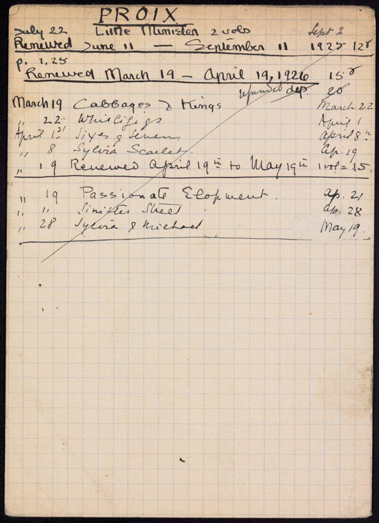 Troise Proix 1925 – 1926 card (large view)