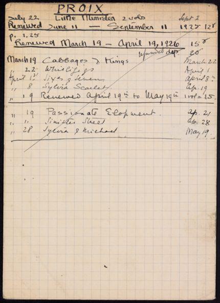 Troise Proix 1925 – 1926 card