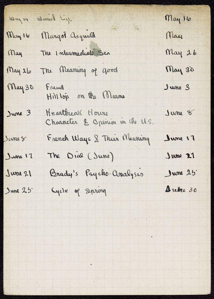 Mme L. Michaelides 1921 card (large view)