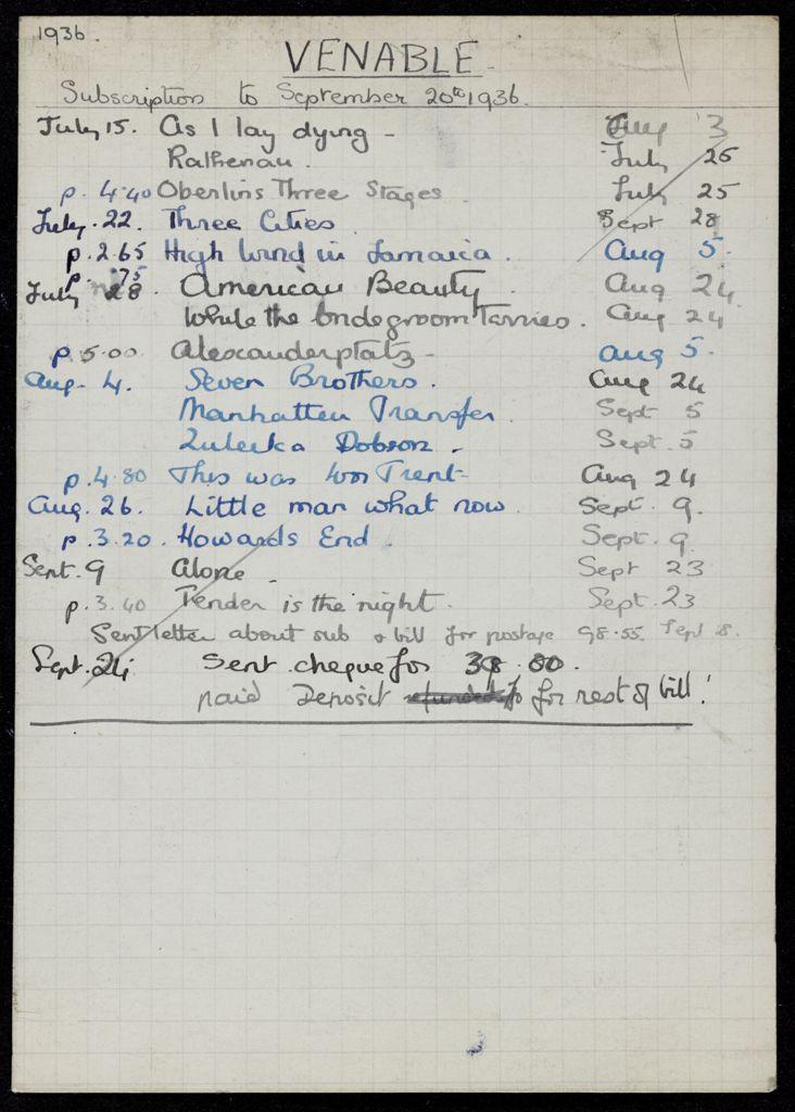 E. C. Venable 1936 card (large view)