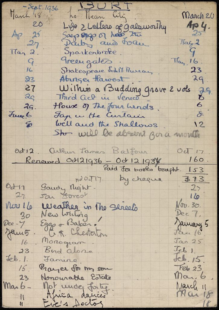 Maud Burt 1936 – 1937 card (large view)