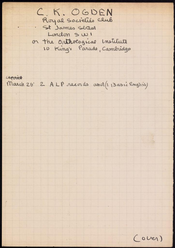 C. K. Ogden 1931 card (large view)