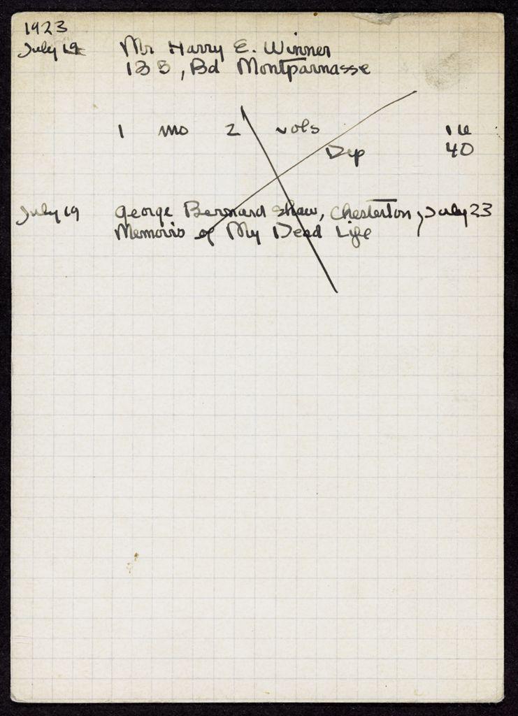 Harry E. Winner 1923 card (large view)
