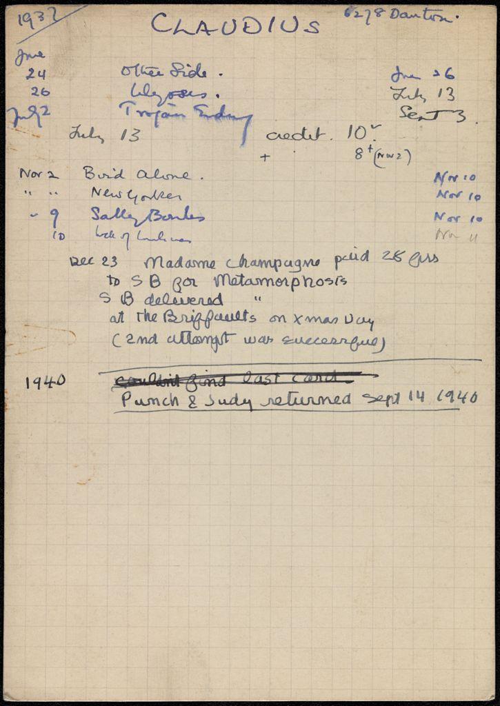 Agnes Claudius 1937 – 1940 card (large view)
