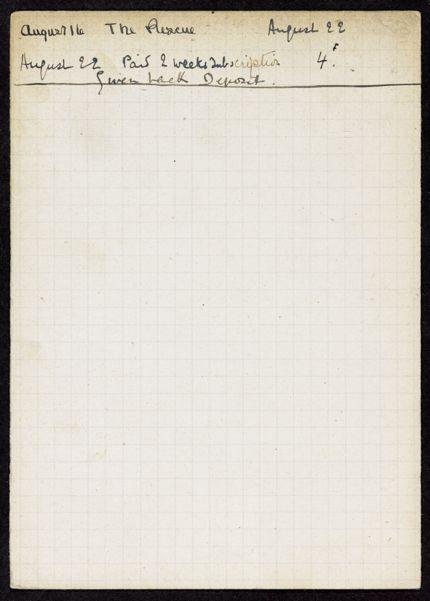 Charlotte Wilder 1921 card