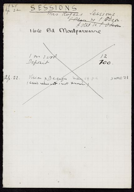Barbara F. Sessions 1926 card